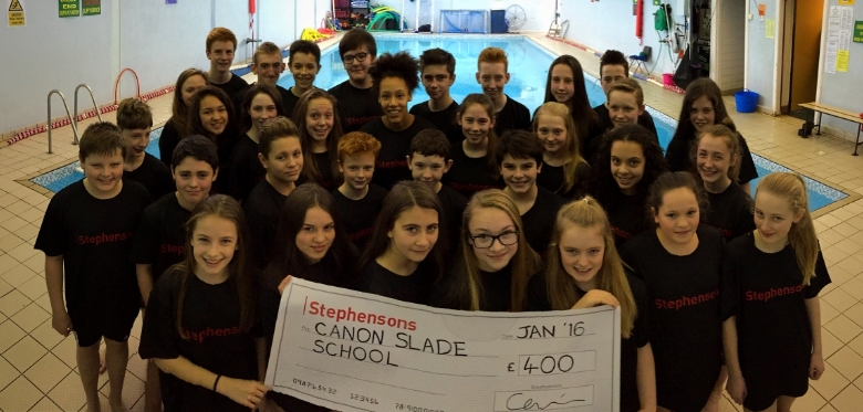 Stephensons makes a splash with school donation