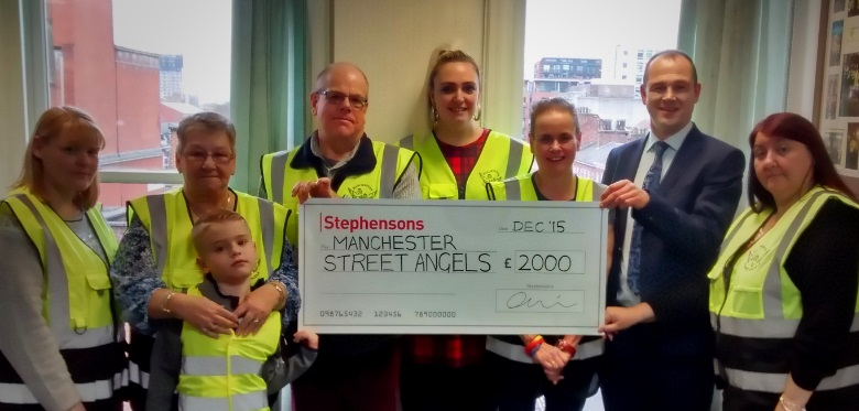 Stephensons supports Manchester  Street Angels with GBP2k donation