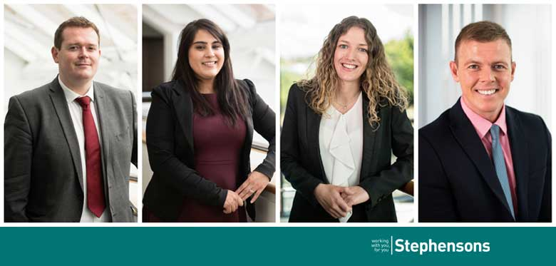 Four new senior associates for Stephensons