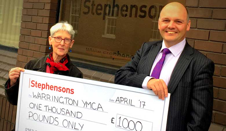 Stephensons opens new Warrington office with grand donation