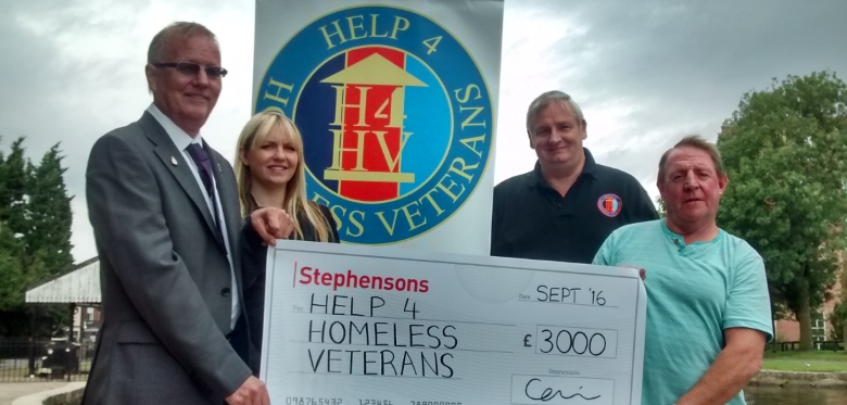 Stephensons pledges support to ex-armed forces charity