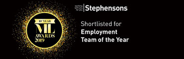 Stephensons employment team shortlisted for top legal award