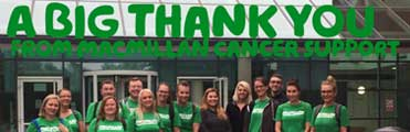 Charity of the Year donation - Macmillan Cancer Support