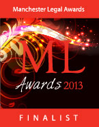 Manchester Legal Awards 2013 - Finalist