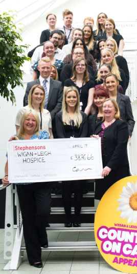 Wigan & Leigh Hospice Cheque Presentation